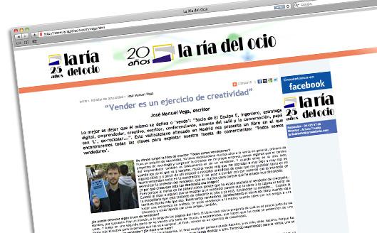 Entrevista en La Ría del Ocio, Bilbao