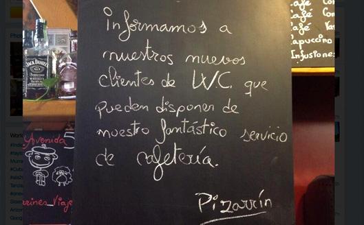 Humor en la cafetería por @pizarrines