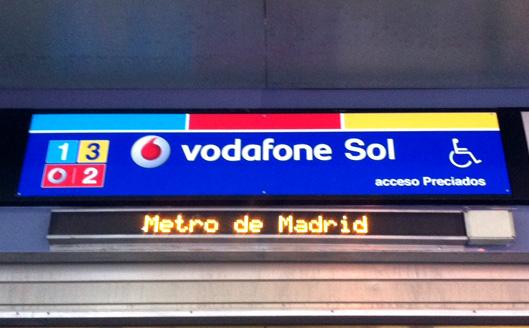 Estación de metro Vodafone Sol